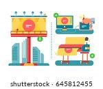 outdoor advertising process | Shutterstock .eps vector #645812455