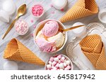 ice cream ingredients view from ... | Shutterstock . vector #645817942