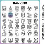 banking concept detailed line...