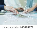 iot. internet of things.... | Shutterstock . vector #645823972