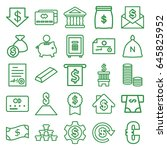 banking icons set. set of 25... | Shutterstock .eps vector #645825952