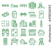 building icons set. set of 25...   Shutterstock .eps vector #645826042