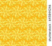 seamless creative hand drawn... | Shutterstock .eps vector #645844246