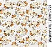exotic shorthair cat vector... | Shutterstock .eps vector #645847126