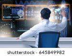 doctor in telemedicince... | Shutterstock . vector #645849982
