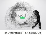 Silhouette Of A Golf Player....