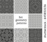 set of ornamental patterns for... | Shutterstock .eps vector #645853156