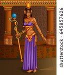 vector design of egyptian... | Shutterstock .eps vector #645857626