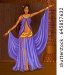 vector design of egyptian... | Shutterstock .eps vector #645857632