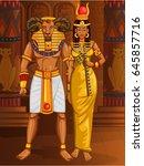 vector design of egyptian... | Shutterstock .eps vector #645857716
