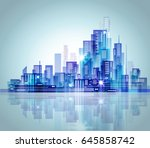 night city background | Shutterstock . vector #645858742