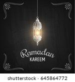 ramadan kareem vector... | Shutterstock .eps vector #645864772
