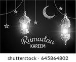 ramadan kareem vector... | Shutterstock .eps vector #645864802