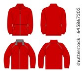 red color autumn fleece jacket...