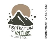protection of nature national... | Shutterstock .eps vector #645873532