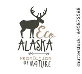 eco alaska protection of nature ... | Shutterstock .eps vector #645873568