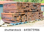 Stacked New And Unused Railroa...