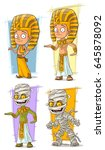 cartoon cool egyptian young... | Shutterstock .eps vector #645878092