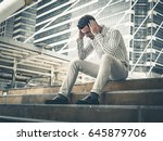young business man abandoned... | Shutterstock . vector #645879706