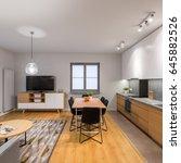 multifunctional  modern loft... | Shutterstock . vector #645882526