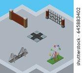 isometric urban set of barrier  ...   Shutterstock .eps vector #645883402
