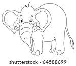 outlined elephant