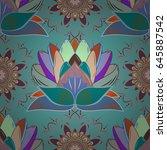 endless vector texture for... | Shutterstock .eps vector #645887542