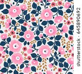 cute floral pattern in the... | Shutterstock .eps vector #645890692