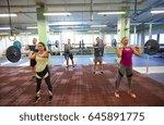 fitness  sport  training ... | Shutterstock . vector #645891775
