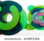 circle geometric abstract... | Shutterstock .eps vector #645892306