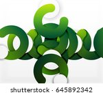 circle geometric abstract... | Shutterstock .eps vector #645892342