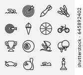 competition icon. set of 16... | Shutterstock .eps vector #645892402
