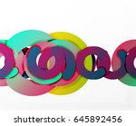 circle geometric abstract... | Shutterstock .eps vector #645892456