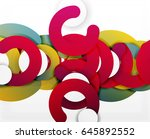 circle geometric abstract... | Shutterstock .eps vector #645892552