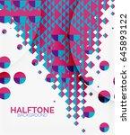 halftone color texture vector... | Shutterstock .eps vector #645893122