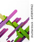 cut 3d paper color straight... | Shutterstock .eps vector #645893962