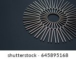 tuning fork round pattern on a... | Shutterstock . vector #645895168