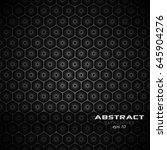 geometric hexagon modern... | Shutterstock .eps vector #645904276