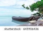 beautiful luxury umbrella and... | Shutterstock . vector #645906436