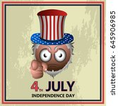 happy independence day graphic... | Shutterstock .eps vector #645906985