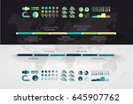 timeline vector infographic.... | Shutterstock .eps vector #645907762
