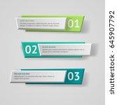 vector infographic origami... | Shutterstock .eps vector #645907792