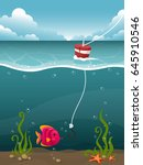 underwater illustration with a... | Shutterstock .eps vector #645910546