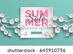summer sale banner template...   Shutterstock .eps vector #645910756