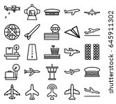 airplane icons set. set of 25... | Shutterstock .eps vector #645911302