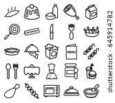 dinner icons set. set of 25... | Shutterstock .eps vector #645914782