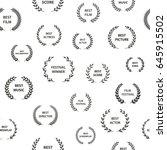 black and white film award... | Shutterstock .eps vector #645915502