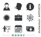 businessman icons. human... | Shutterstock .eps vector #645918256