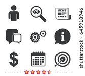 business icons. human... | Shutterstock .eps vector #645918946