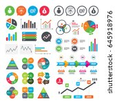 business charts. growth graph.... | Shutterstock .eps vector #645918976